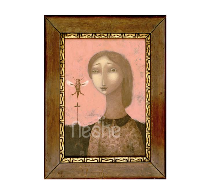 Sárkánylégy, akril festmény