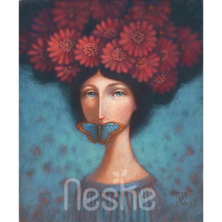 Csend - akril festmény