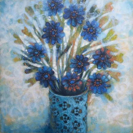 kékvirágos csendélet